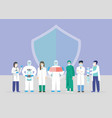 doctors team medical staff doctor and nurse group vector image