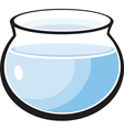 fish tank with water vector image