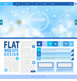 Flat web site design Ecology background vector image vector image
