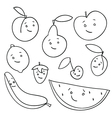 fruit faces vector image