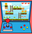 game machine game controller game interface design vector image vector image