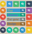 Graduation icon sign Set of twenty colored flat vector image