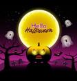 hello halloween scary night backgrounds vector image vector image