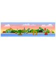 horizontal panoramic postcard asian famous vector image vector image