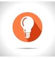 lightbulb orange icon Eps10 vector image vector image