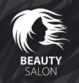 logo fluttering female hair vector image vector image
