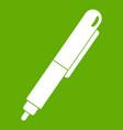 marker pen icon green vector image vector image