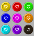 Medical heart Love icon sign symbol on nine round vector image
