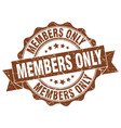 members only stamp sign seal vector image vector image