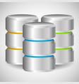 metal cylinder webhosting server mainframe vector image