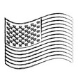 monochrome sketch of waving flag of the united vector image vector image