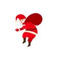 Naughty santa claus carrying christmas presents vector image
