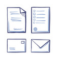 office papers envelopes closed and open isolated vector image vector image