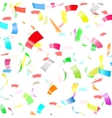 Party Confetti on White Background vector image vector image