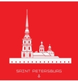 Peter and Paul Cathedral - Saint Petersburg vector image