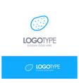 potato food blue outline logo place for tagline vector image vector image