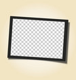 retro frame with black border and transparent vector image vector image