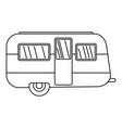 retro travel trailer icon outline style vector image vector image