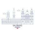 salzburg city skyline vector image vector image