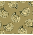 Seamless hand drawn texture of shells vector image vector image