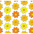 Seamless pattern with yellow camomiles vector image