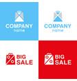 set logo of big sale vector image vector image