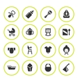 Set round icons of newborn baby vector image