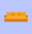 sofa and couch yellow colorful cartoon vector image
