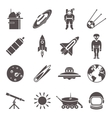 Space Black Icon Set vector image vector image