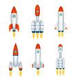 space exploration rocket cosmos spaceship future vector image vector image