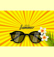 summer time sunglasses halftone pop art vector image vector image