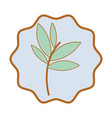 symbol plants with leaves icon image vector image vector image
