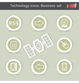 Technology icons Business set vector image vector image