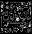 traditional black and white tattoo vector image vector image