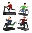 treadmill icons set cartoon style vector image vector image