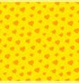 valentines day seamless pattern with yellow hearts vector image vector image