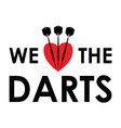 we love the darts vector image vector image