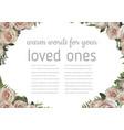 wedding invitation beautiful greeting card vector image vector image