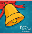 year bell decoration cartoon card vector image vector image