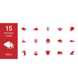 15 wild icons vector image vector image