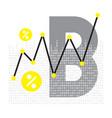 abstract bitcoin technology vector image vector image