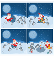 Adventures of Santa Claus and penguins vector image