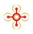 aero flying drone symbol logo design vector image vector image
