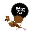 African American Cupid Little angel with an Afro vector image vector image