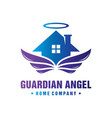 angel house logo design your company vector image