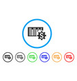 barcode price setup rounded icon vector image vector image