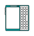 blank screen cellphone with buttons icon image vector image vector image