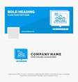 blue business logo template for analysis argument vector image