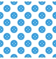 blue seamless pattern made buttons vector image