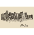 Boston skyline vintage Sketch vector image vector image